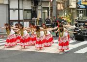 早稲田大学の女子大生によるハワイアンダンス