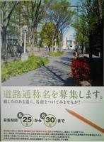 新宿の道路に愛称をつけよう!・・・この道路は早大理工キャンパス脇の道路ですね♪