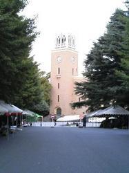 地球感謝祭に向けてテントが並んだ早稲田キャンパス