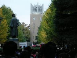 早稲田祭2009でキャンパスは人・人・人・・・