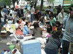 昨年秋の「鶴巻町フェスティバル」・多くの方で賑わうフリーマーケット