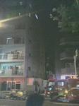 まだ煙がくすぶる早稲田の街の火災現場