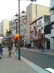 早稲田大学へのメインロード・早大南門通り
