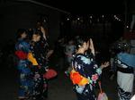 高田富士祭の盆踊りに参加する早大生の浴衣美人??