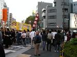 早稲田祭パレード(早稲田通り)